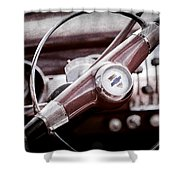 1951 Chevrolet Convertible Steering Wheel Shower Curtain