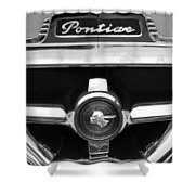 1951 Pontiac Streamliner Grille Emblem Shower Curtain