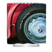 1952 Frazer-nash Le Mans Replica Mkii Competition Model Tire Emblem Shower Curtain