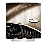 1953 Aston Martin Db2-4 Bertone Roadster Hood Emblem Shower Curtain
