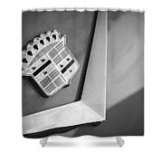 1954 Cadillac Coupe Deville Emblem Shower Curtain