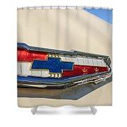 1955 Chevrolet Belair Emblem Shower Curtain