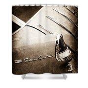 1955 Chevrolet Nomad Wagon Taillight Emblem Shower Curtain
