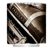 1955 Pontiac Star Chief Grille Emblem - Hood Ornament Shower Curtain
