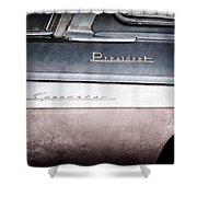 1955 Studebaker President Emblems Shower Curtain by Jill Reger