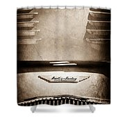 1956 Austin-healey 100m Bn2 'factory' Le Mans Competition Roadster Hood Emblem Shower Curtain