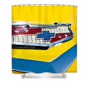 1956 Chevrolet Belair Emblem Shower Curtain