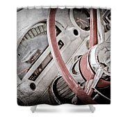 1956 Ford Thunderbird Steering Wheel Shower Curtain