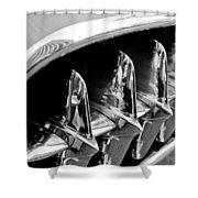 1957 Chevrolet Corvette Grille Shower Curtain