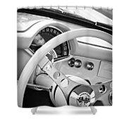 1957 Chevrolet Corvette Steering Wheel Emblem Shower Curtain