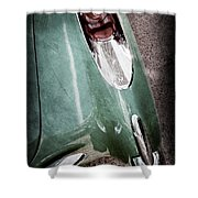 1957 Chevrolet Corvette Taillight Shower Curtain