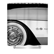 1957 Chevrolet Corvette Wheel Emblem Shower Curtain