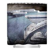 1957 Oldsmobile Hood Ornament Shower Curtain