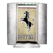 1959 Ferrari 250 Gt Emblem Shower Curtain