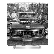 1960 Cadillac Eldorado Biarritz Convertible Painted Bw Shower Curtain