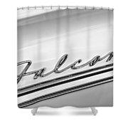 1963 Ford Falcon Futura Convertible   Emblem Shower Curtain
