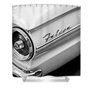 1963 Ford Falcon Futura Convertible Taillight Emblem Shower Curtain