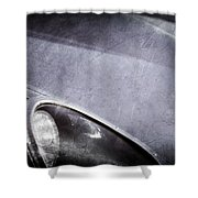 1963 Jaguar Xke Roadster Headlight Shower Curtain