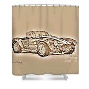 1965 Shelby Ac Cobra Shower Curtain
