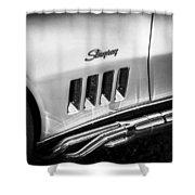 1969 Chevrolet Corvette 427  Bw Shower Curtain