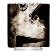 1969 Ford Mustang Boss 429 Sportsroof Side Emblem Shower Curtain