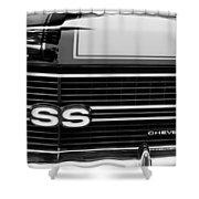 1970 Chevrolet Chevelle Ss Grille Emblem Shower Curtain