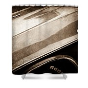 1970 Dodge Challenger Rt Convertible Emblems Shower Curtain