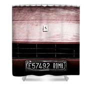 1972 Ferrari 365 Gtb-4a Grille Emblem Shower Curtain