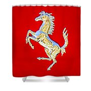 1999 Ferrari 550 Maranello Stallion Emblem Shower Curtain