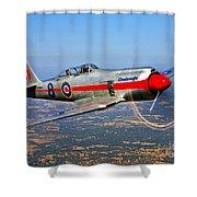 A Hawker Sea Fury T.mk.20 Dreadnought Shower Curtain