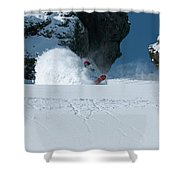 A Male Snowboarder Makes A Series Shower Curtain