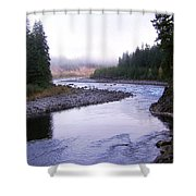 A Mountain Stream Shower Curtain