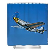 A North American P-51d Mustang Shower Curtain