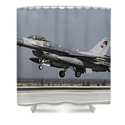 A Turkish Air Force F-16c Fighting Shower Curtain