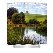 Abbotsbury Shower Curtain by Joana Kruse
