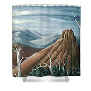 Above The Tundra Line Shower Curtain