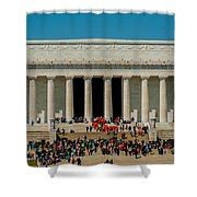Abraham Lincoln Memorial In Washington Dc Usa Shower Curtain