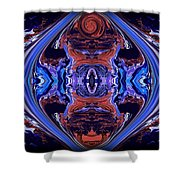 Abstract 110 Shower Curtain