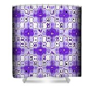 Abstract 120 Shower Curtain by J D Owen