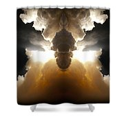 Abstract 125 Shower Curtain