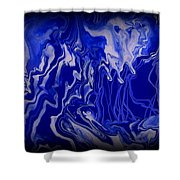 Abstract 87 Shower Curtain