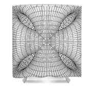 Abstract Structural Construction Shower Curtain