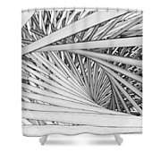Abstract Urban City Building In Chaos Shower Curtain