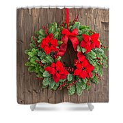 Advent Wreath With Winter Rose Shower Curtain