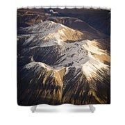 Aerial Mountains Shower Curtain