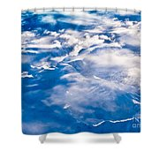 Aerial View Of Snowcapped Peaks In Bc Canada Shower Curtain