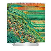 Agate Microworlds 2 Shower Curtain