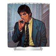 Al Pacino 2 Shower Curtain by Paul Meijering