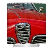 Alfa Romeo Grille Emblem Shower Curtain