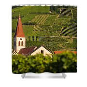 Alsace Church Shower Curtain